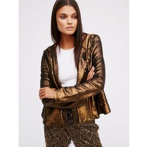 Free People | Hooded Sequin Jacket